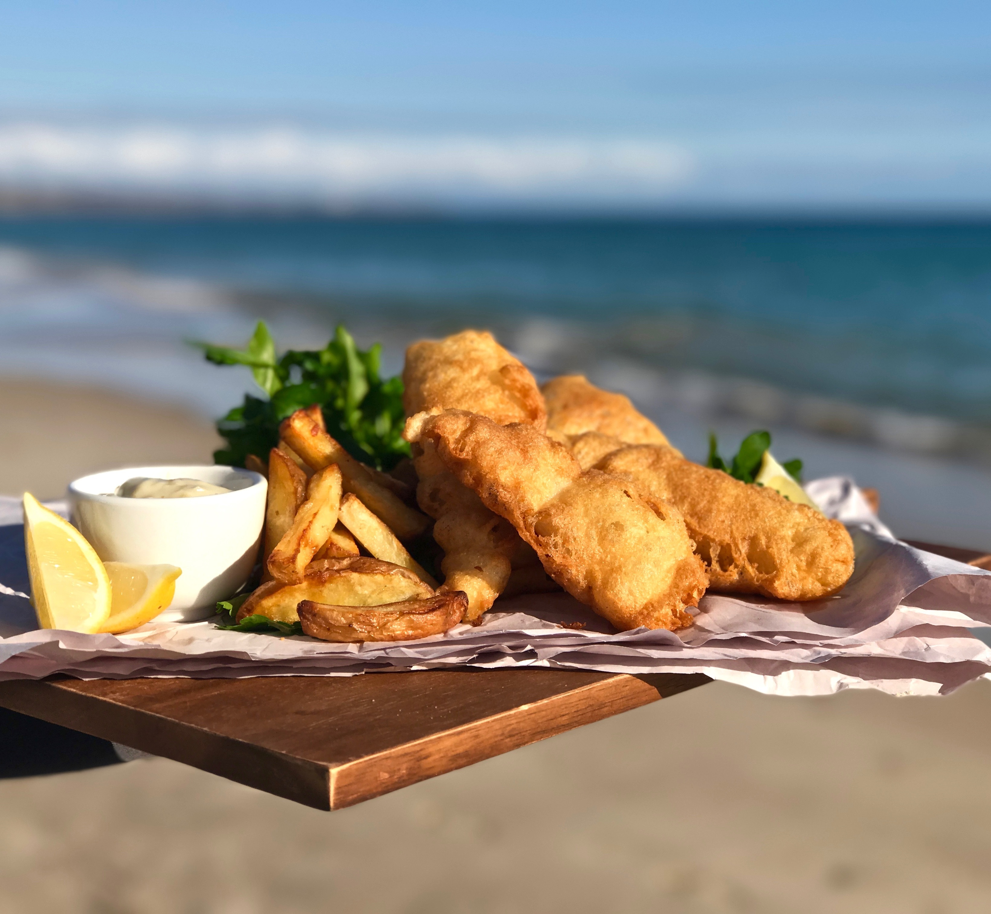 Beer battered redfish with homemade chips and beerenberg for How to cook red fish
