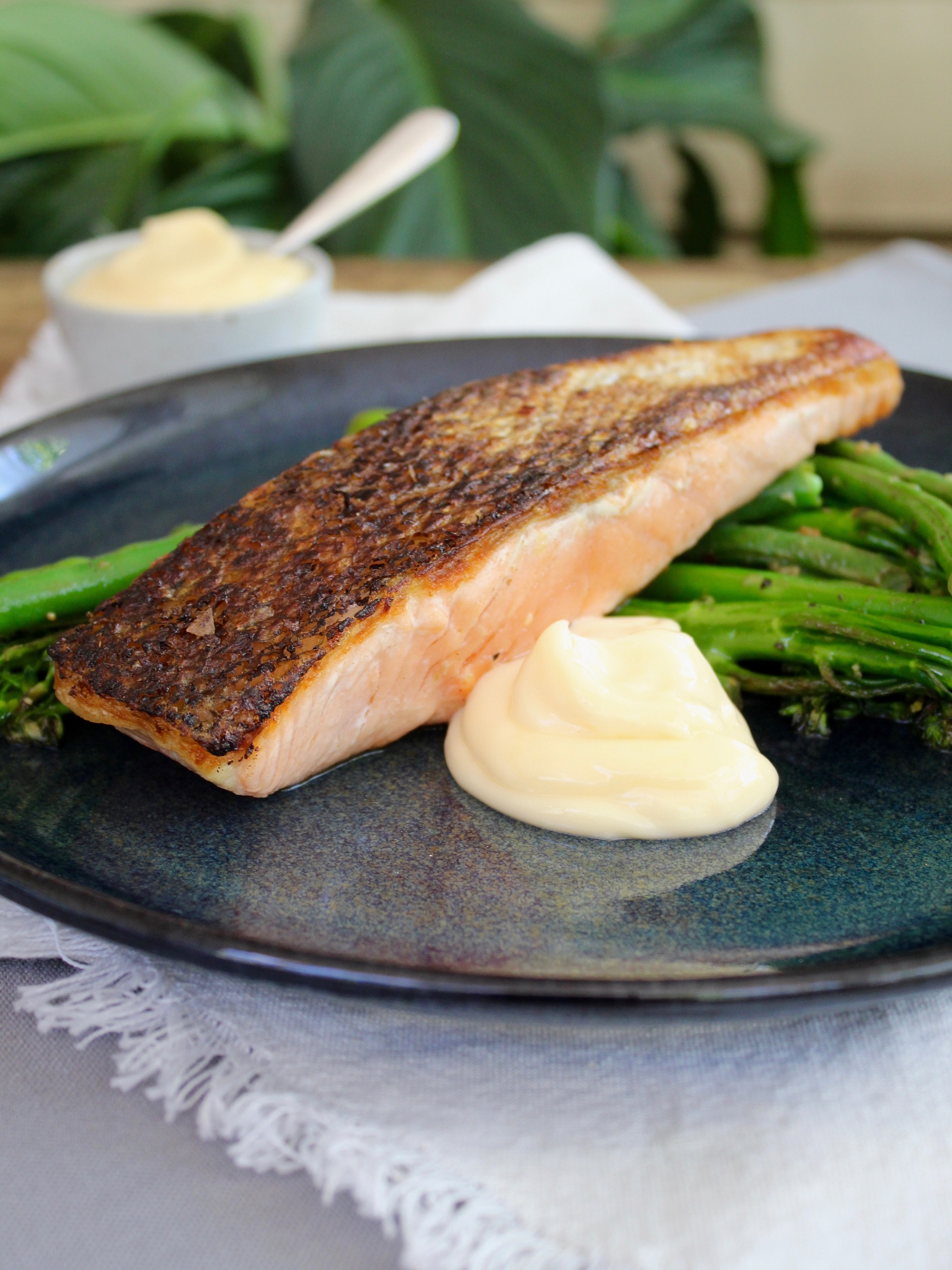 Pan Fried Atlantic Salmon With Lobster Aioli Recipe